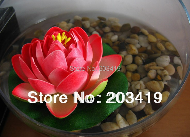 Size S 10.5cm 1PCS Artificial lotus water lily flowers plants Wedding Party Home Decoration craft