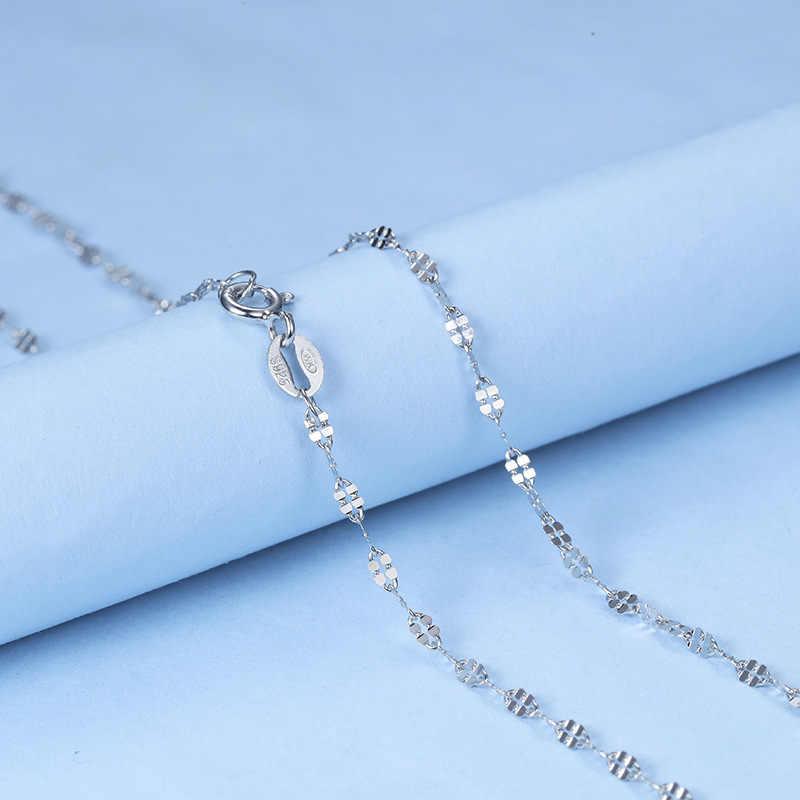 Sterling silver Vòng Bán Buôn 925 Chuỗi Clover Thời Trang Trang Sức Vòng Cổ cho Phụ Nữ Vòng Cổ Clover S925 In Chuỗi Xoắn