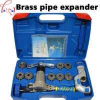 Латунные трубы эспандер WK-519FT-L цельный эксцентричный медный комплект инструмент для развальцовки труб холодильные инструменты
