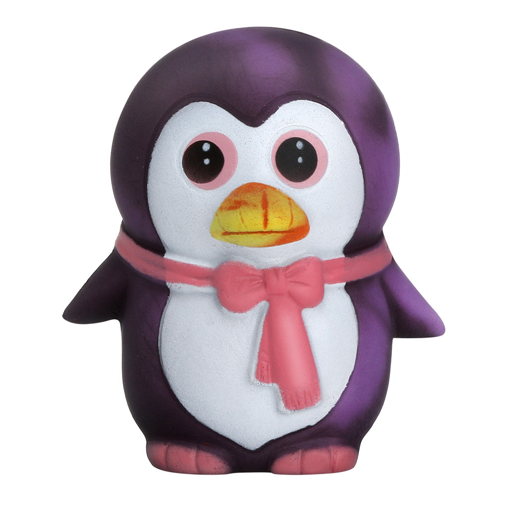 Thermal Heat Induction Temperature Color Change Squishies Penguin Jumbo Cute Slow Rising Kawaii Squish Toy For Kids A610