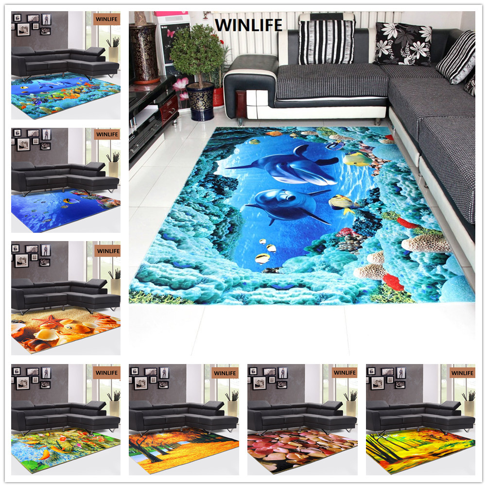 3D Underwater World Carpets For Living Room Printing Home Bedroom Rugs And Carpets Modern Coffee Table Floor Mat Study Room Mat3D Underwater World Carpets For Living Room Printing Home Bedroom Rugs And Carpets Modern Coffee Table Floor Mat Study Room Mat