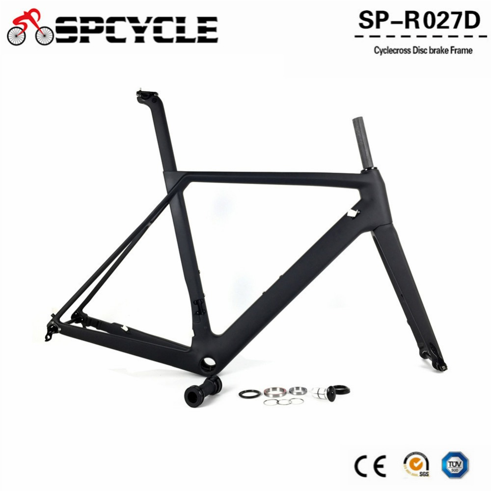 Spcycle 2019 New Disc Brake Carbon Road Bike Frames T1000 Full Carbon Racing Bicycle Frameset With 142*12mm & 100*12mm Thru Axle