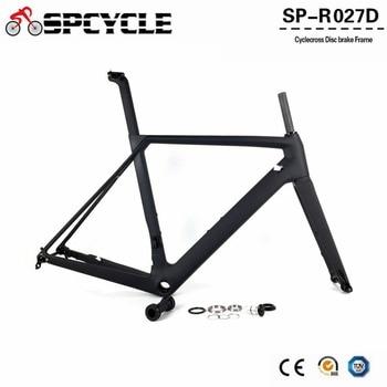 c92dfba34b Spcycle 2019 nuevo disco de freno de carbono bicicleta carretera marcos  T1000 de carbono de bicicleta de carreras de Marcos con 142*12mm y 100*12mm  a través ...