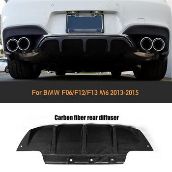 6 Series Carbon Fiber Rear Bumper Diffuser Lip for BMW F06 F12 F13 M6 2013-2015 Auto Racing Car Styling Body kit Cover image