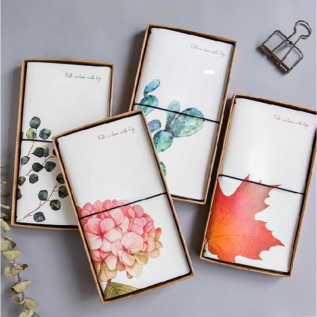 Kawaii Cute Flower Leaf Notebook Stationery Diary Agenda Pocket Notepad Planner Weekly Book Travel School Office Supplies sl2056