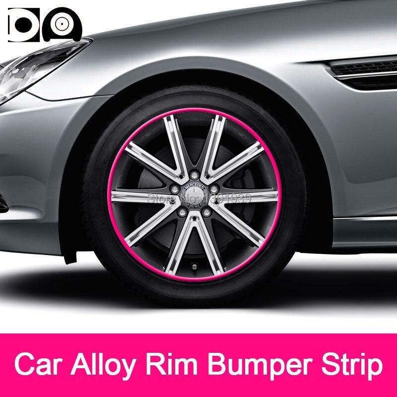 8 meters Car Alloy Wheel Rim Bumper Strip for Cadillac XT5 ELR CT6 CTS XTS ATS SRX SLS STS Escalade XLRV STSV DTS BLS