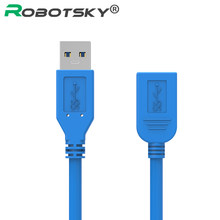 Hot Koop Usb 3.0 Man-vrouw Verlengkabel USB3.0 Data Sync Snelle Speed Cord Connector Voor Telefoon Hard Disk laptop Pc Printer(China)
