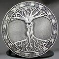 Speical Vintage Hebilla de Cinturón de Plata Árbol De La Vida Amorosa de La Mitología Nórdica Pagana Wicca Unisex