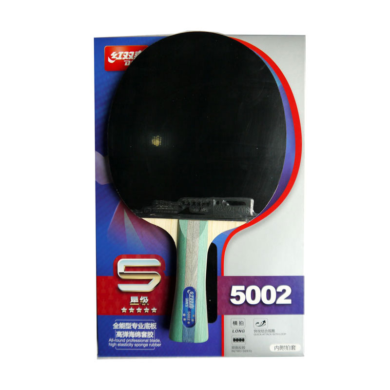 Original DHS 5002 table tennis racket pimples in rubbers fast attack loop DHS racquet sports ping pong paddles