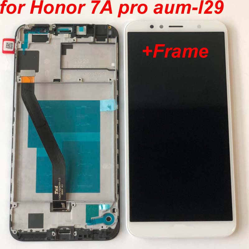 HTB1j7s2B3KTBuNkSne1q6yJoXXaw 2018 New 5.7 inch for Huawei Honor 7A pro aum-l29 AUM-L41 LCD Display Touch Screen Digitizer Assembly Original LCD+Frame Aum-L21