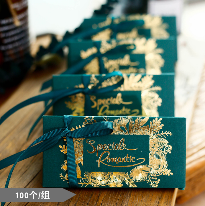 100 Pcs Creative Special Forest Theme Wedding Favors Candy Boxes Bomboniera Chocolate Box Wedding Party Gift