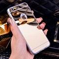 Роскошные Зеркало Гальванических Мягкий Ясности TPU Чехлы Для iphone 6/6 S/7 4.7 дюйма Для iPhone6 7 Плюс 5.5 дюймов 5 5S Задняя Крышка Сумки