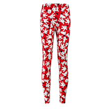 Women Fashion High Elasticity Yoga Leggings New Female Hip Hop Cartoon Mickey Mouse Print Slim Trousers Casual Pants