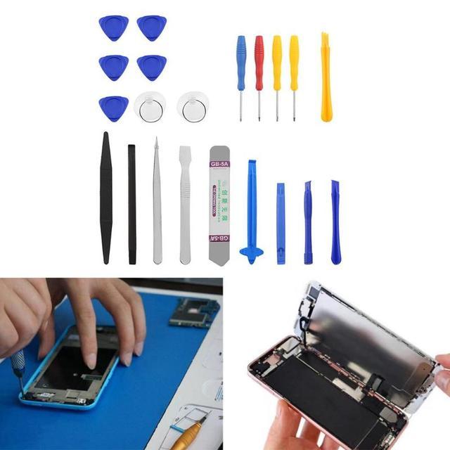 21 en 1 Kit doutils de réparation de téléphone portable outil douverture décran Mini jeu de tournevis pour iPhone Samsung ensemble doutils à main de réparation