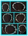 Venda QUENTE Turquesa Pulseiras para Mulheres Meninas Brazaletes Pulseras Mujer Geométrica Chains Pulseira para o Presente Do Partido