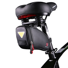 WHEEL UP Reflective Bicycle Saddle Bike Rear Bag Waterproof MTB Mountain Road Shockproof cycling Seatpost Package tail bags