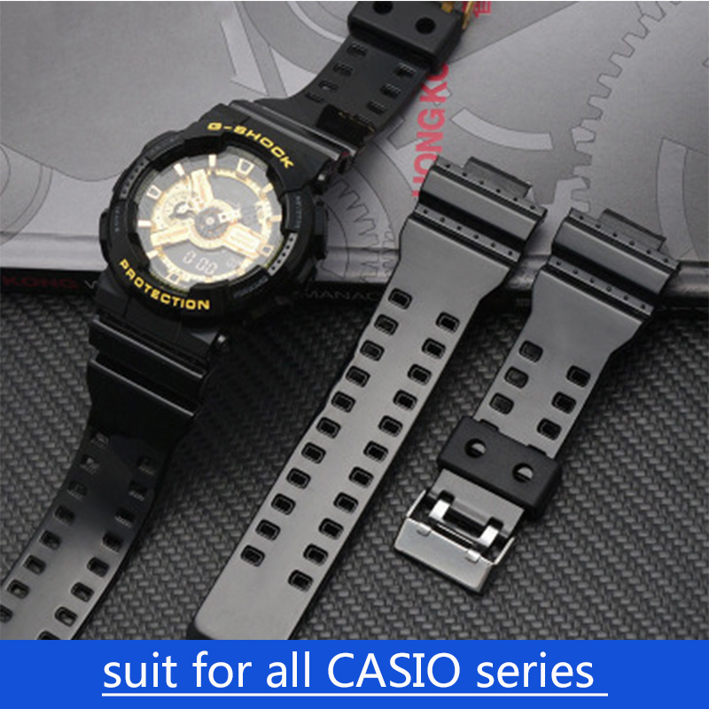 Suit for All Casio Watches <font><b>Watchband</b></font> Silicone Rubber <font><b>G</b></font>-<font><b>SHOCK</b></font> Series GG-1000 GW GA AQ AE DW GG All Series 16mm 18mm 20mm 22mm image