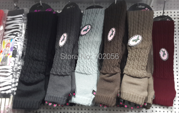 2016 Solid Knit Fingerless Gloves Ballet Dance Glove Long Arm Warmers Mitten Fashion Mixed 24pairs/lot #3707
