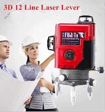 Высокое Качество 12 Линия 3D лазерный уровень 360 Вертикальных И Горизонтальных 3D Лазерный Уровень самовыравнивающийся Крест Линия 3D Лазерный Уровень Красный луч