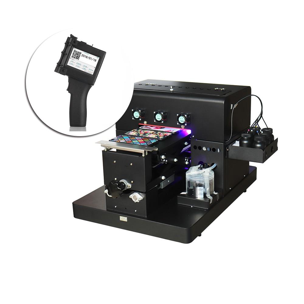 US $1699 84 17% OFF|A4 Size UV Printer Led uv emboss effect printer Print  on Phone Case TPU Glass & Mini Portable Handheld Printer For Label Code-in