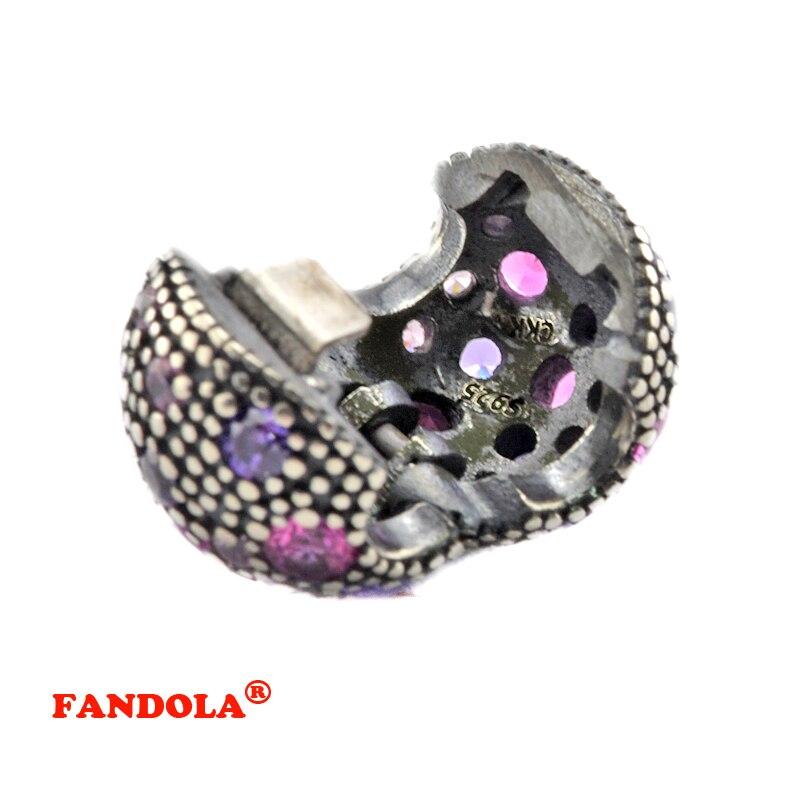 a2dc7a351 ... Charm Fit Pandora Bracelets Purple Cosmic Stars Clip Beads with Multi  Color CZ Authentic 925 Sterling Silver .