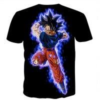 Mężczyźni Z Krótkim Rękawem T Shirt Dragon Ball Ultra Instynkt Super Z Son Goku Vegito Fighters 3D Print T-Shirt Plus Size odzież
