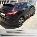 ACCESSORIES FIT FOR 2014 2015 2016 NISSAN QASHQAI CHROME ABS DOOR SIDE LINE GARNISH BODY MOLDING COVER PROTECTOR TRIM
