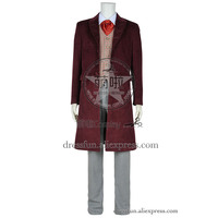 Who Is The Doctor Cosplay 4th Fourth Dr Tom Baker Costume Daily Uniform Party Halloween Fast Shipping Male Adult Version