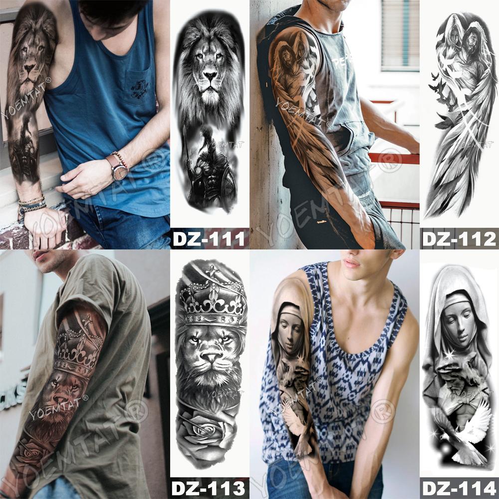 Tatuaje para brazo impermeable cráneo completo 1