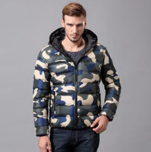 New Winter Men Warm Cotton Camouflage Clothing Hooded Fashion Parkas Casual Female Outerwear Tops цена 2017