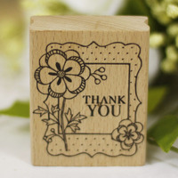 DIY Thank You Rubber Wooden Stamps For Carimbo Sstempel Diy Postcard Or Bookmark Scrapbooking Stamp 6