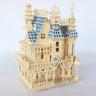 Puzzles 3D wood wooden puzzle miniature dollhouse doll house Wood House 4rooms Villa kit,play house