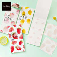 30 Pages Fresh Fruit Memo Pads Marker Message Sticky Notes Decor School Office Supply Stationery