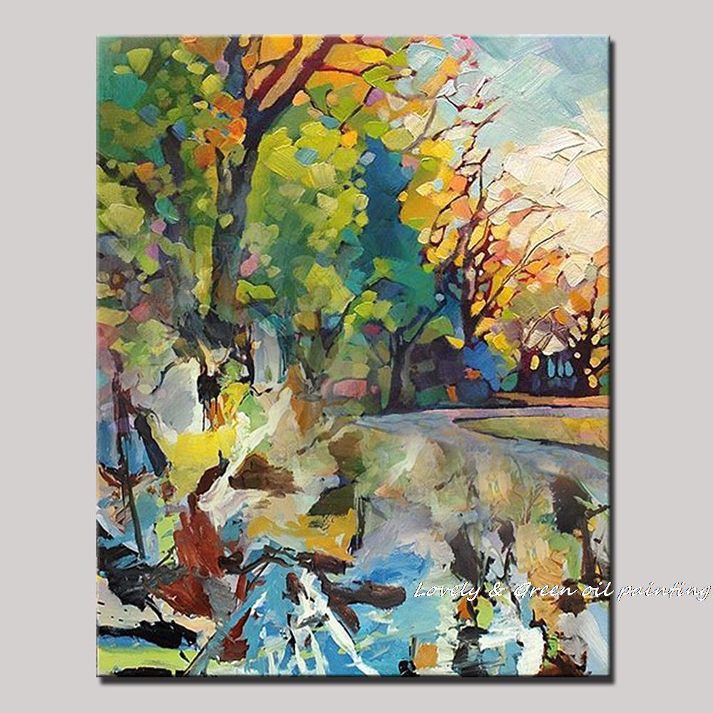 ღ Ƹ̵̡Ӝ̵̨̄Ʒ ღPintado a mano la exuberante bosque moderno pinturas ...