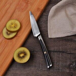 Image 2 - SUNNECKO Damascus Chef Utility Bread Paring Santoku Steak Knife Japanese VG10 Steel G10 Handle Meat Cutting Kitchen Knives Set