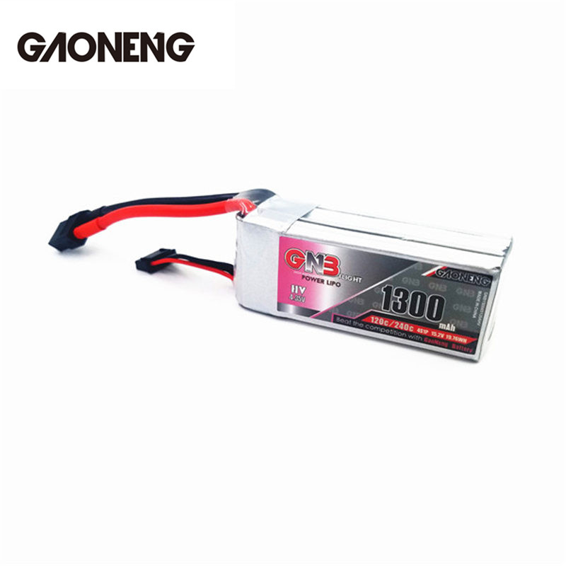 Rechargeable GaoNeng GNB 4S 15.2V 1300mAh 120C 4.35V HV Lipo Battery w/ XT60 Plug Connector for RC Models Multicopter Spare Part