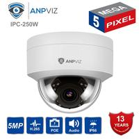 Compatible Hikvision 5MP IP POE Camera Outdoor H.265/H.264 Dome Security CCTV Network Camera Wide Angle 2.8mm, 30M IR ONVIF