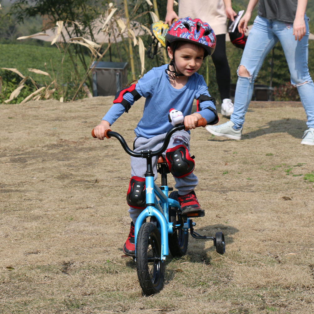 12 Inch Kids Bike Totem DIY Blue Steel Kids Bike DIY Sticker Kids Bicycle with Detachable 12 Inch Kids Bike Totem DIY Blue Steel Kids Bike DIY Sticker Kids Bicycle with Detachable Training Wheels and Bell