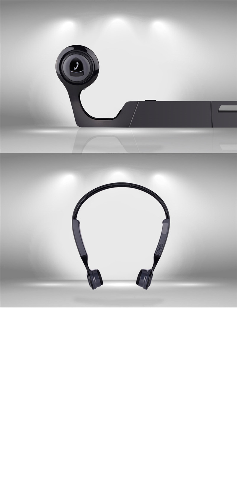 Mix8 Wireless Bluetooth Headphones bluetooth earphone Bone Conduction Open Ear Releasing Stereo Headsets auriculares with Mic