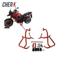 Cherk мотоцикл Красный спереди двигателя радиатор Шоссе гвардии Крушение баров защита рамка для BMW F800GS F700GS 13 17 16 15 14