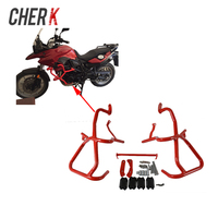 Cherk Motorcycle Red Front Engine Radiator Highway Guard Crash Bars Frame Protection For BMW F800GS F700GS 13 17 16 15 14