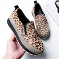Fashion Leopard Style Women Casual Shoes Flat Comfortable Platform Shoes Autumn Spring Handmade Ladies Shoes