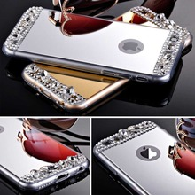 Мода охладить зеркало I6 6 S чехол торгово-люкс гибкие мягкая задняя чехол для Iphone 6 6 S 4.7 дюймов Ultra Slim прозрачный четкие рамки крышка