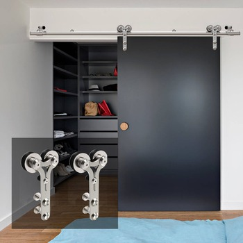 LWZH 10-16FT en forma de Y de plata moderna Puerta de acero...
