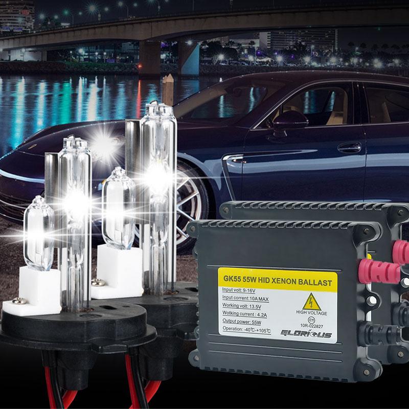 AC 55W H4 XNEON HID комплект H4 с галогеновой лампой ксеноновый Комплект 4300k 5000k 6000k 8000k HID конверсионный комплект H4-2 ксеноновая лампа