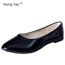 Hung Yau Women Flats Candy Color Shoes Woman Loafers Spring Autumn Soft Flat Casual Shoes Women Zapatos Mujer Plus Size 35-41(China)