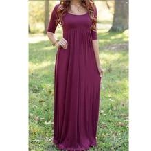 Belva 2016 Summer Long Breathable Maternity Dresses Maternity Photography Props Pregnant Clothes Pregnant Dress Women Dress 37