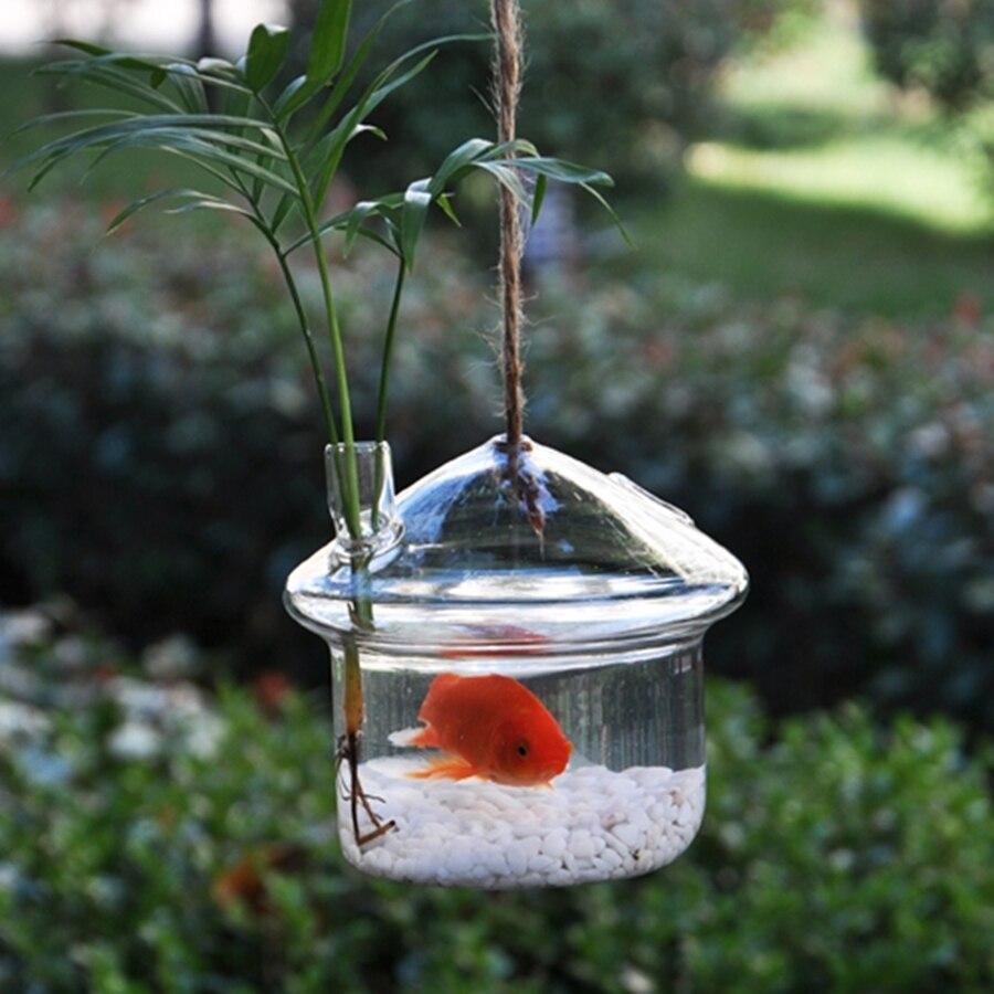 New creative aquarium glass vase fishbowl hydroponic vase for Aquarium vase pour poisson rouge
