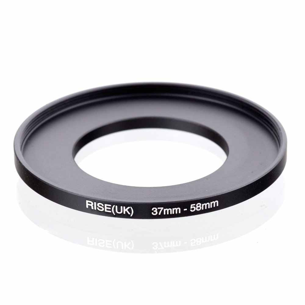 Originele Rise (Uk) 37 Mm-58 Mm 37-58 Mm 37 Tot 58 Step Up Ring Filter Adapter Black