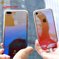 Baseus Original Case For iPhone 7 luxury Aurora Gradient Color Transparent Slim Case For iPhone 7 Plus light Cover Hard PC Cases